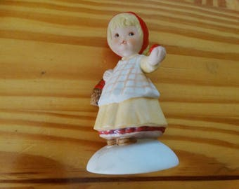 Hallmark Mary 1983  Girl with Basket of Apples