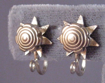 Screw Back Earring Converters Star/ Sun/ Flower Design, Change Your Earrings to Screw Backs, Creative Vintage Earring  Finding