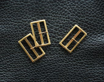 Rectangular Strap Buckles in Distressed Gold
