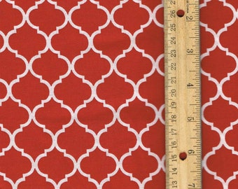 Red Mini Quatrefoil Fabric, Fabric by the Yard, Red Cotton Fabric, Christmas Fabric, sewing fabric, quilting fabric