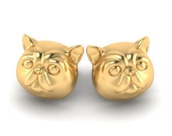 Exotic Shorthair cat earrings
