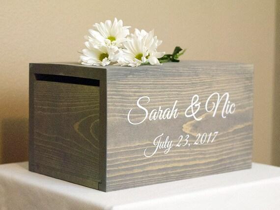 Wedding Card holder Wedding Money Box rustic card box