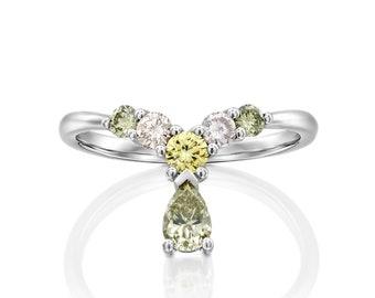 Pearshape Engagement ring, Green Diamond Pearshape cut ring, Fancy Natural grean Diamond, Coctail Ring, Yellow Diamond, Rose Pink Diamond,