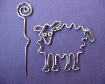 SHEEP SHAWL pin wirework