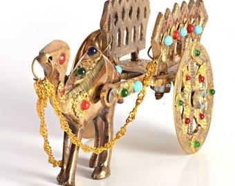 Brass Camel Cart