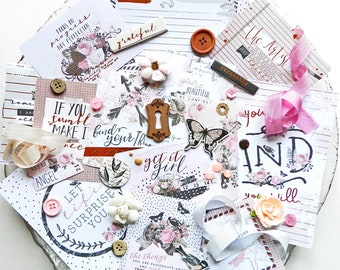 Embellishment Kit / Prima Amelia Rose / Scrapbook Kit / New Prima / Bullet Journaling / Junk Journal / Planner Accessories / Embellishments
