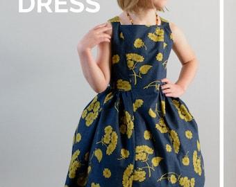 The Spelen Dress PDF Sewing Pattern / Vintage Sewing Pattern / Party Dress Sewing Pattern / Sleeveless Dress Girl Sewing Pattern