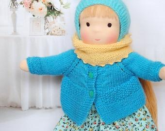 Waldorf doll Alina.Textile doll, handemade doll.Ready to ship.