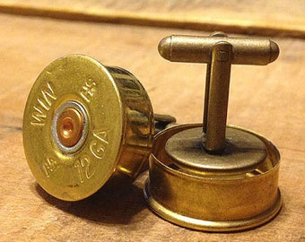 Shotgun Shell Cufflinks Pair - Winchester - Remington