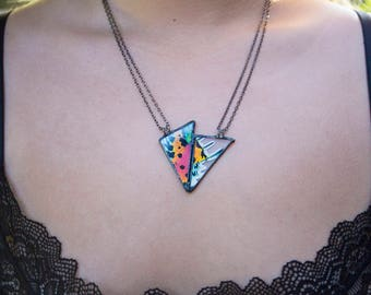 Reversible Sunset Moth Necklace