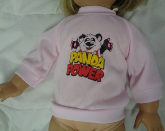 Cute Vintage 90s Panda Doll Top  for 18 inch Dolls-Shown on My American Girl Doll