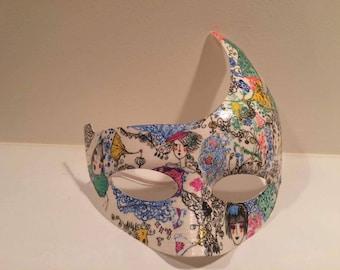 Art paper face mask