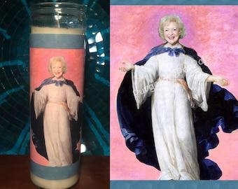 Saint Betty White Prayer Candle / Golden Girls Prayer Candle