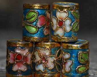 Brilliant cloisonne barrel beads  CL014