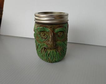 Green Man Stash Jar