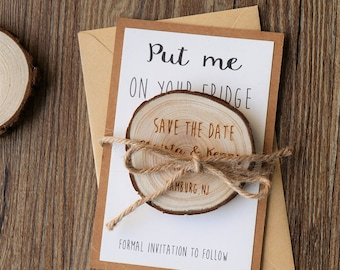Wooden Save-the-Date Magnets/ Wedding Save the date/ Rustic  Save the date/Wooden Magnets/Rustic Wedding Magnet