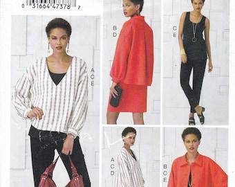 FREE US SHIP Vogue 949 9286 Separates Wardrobe Suit Jacket Skirt Pants Size 16 18 20 22 24 26 Bust 38 40 42 44 46 48 plus Sewing Pattern