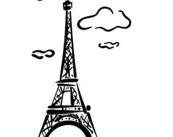 Eiffel Tower V.3 vinyl decal/sticker
