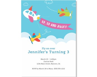 Printed Invitations - Airplane