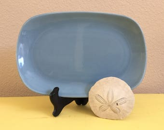 Metlox Poppytrail Shore Line Platter / Horizon Blue