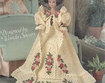 90s Stephanie's Crochet Peignoir for Fashion Dolls Crochet Peignoir for 11 1/2 Inch Dolls Designed by Wanda Spears OOP 02010597