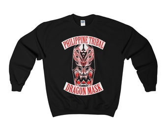 Tribal Dragon Mask Crewneck