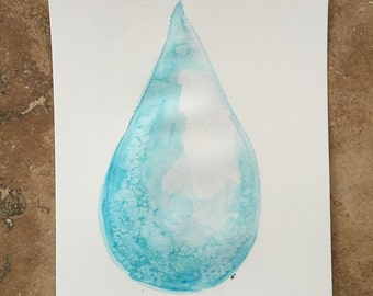 Watercolor Painting - Water Drop