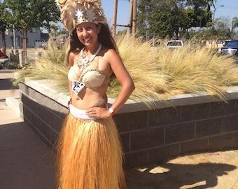 Hau bark Tahitian MORE SKIRT grass skirt 3-4 pounds