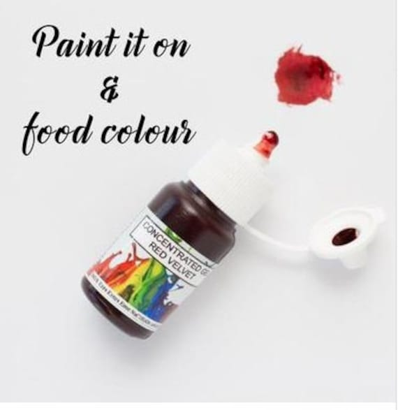 Rolkem Gel Edible Paint Concentrated Food Color- Red Velvet 15ml ...