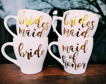 Bride Mug / Bridesmaid Mug / Maid of Honor Mug / Personalized Wedding Mug