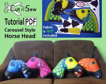 Cut n Sew Horse Head Cushion/Pillow Sewing Tutorial