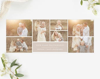 Collage Facebook Cover Template for Photographers, Facebook Timeline Cover Template Photoshop, Facebook Cover Photo, Header Template FB195