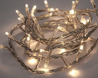 30 LED Mini String Lights with Timer, 9ft Battery Operated Fairy String Lights, Centerpieces, Party Lights, Outdoor Wedding, Room decor