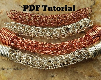 Viking Knit Tutorial Viking Knit with Bead Caps Wire