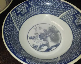 Porcelain Bowls Set of 4 Made in Landon B.W.L.