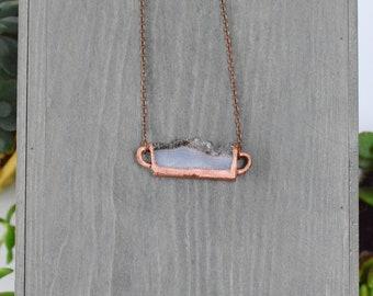 Amethyst Pendant / Copper Electroformed Pendant