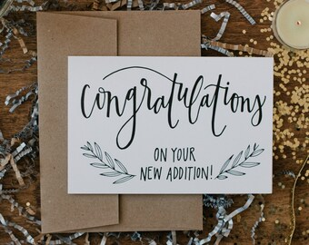 "New Baby 4""x6"" Greeting Card - Congratulations"