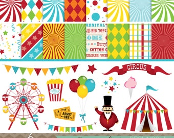 Carnival Clip Art, Banners, and Backgrounds BUNDLE