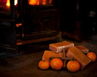 Orange and Cinnamon Goats Milk Soap