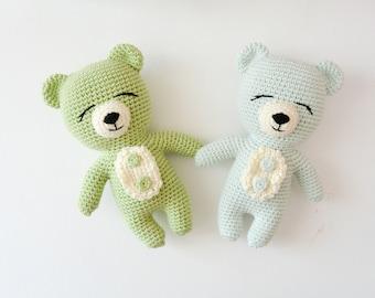 Crochet Sleepy Teddy Bear, Pattern, PDF, English