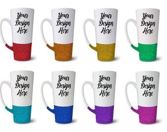 Personalized Coffee Cup // Glitter // Coffee Mug // Customized 16oz Mug
