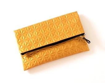 Gold clutch purse, gold women bag, gold clutch bag, gold purse, gold clutch bridesmaid, wedding clutch- Fire