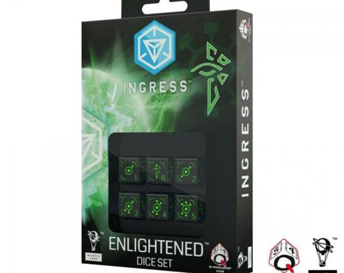 Ingress 6D6 Dice Set: Enlightened (6)  - Q-Workshop