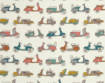 Multi Moped Scooters From Birch Organic Fabric's Trans-Pacific Collection by Jay-Cyn Designs