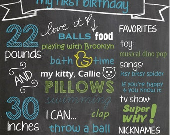 16x20 Mustache Bash, Little Man Birthday Chalkboard Digital Graphic, Printable, Custom