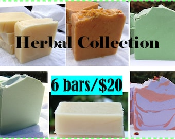 All Natural Herbal Soap Collection