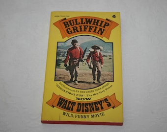 "Vintage Paperback Book, "" Bullwhip Griffin "" by Sid Fleischman, Movie Motion Picture, 1963, Walt Disney Movie"