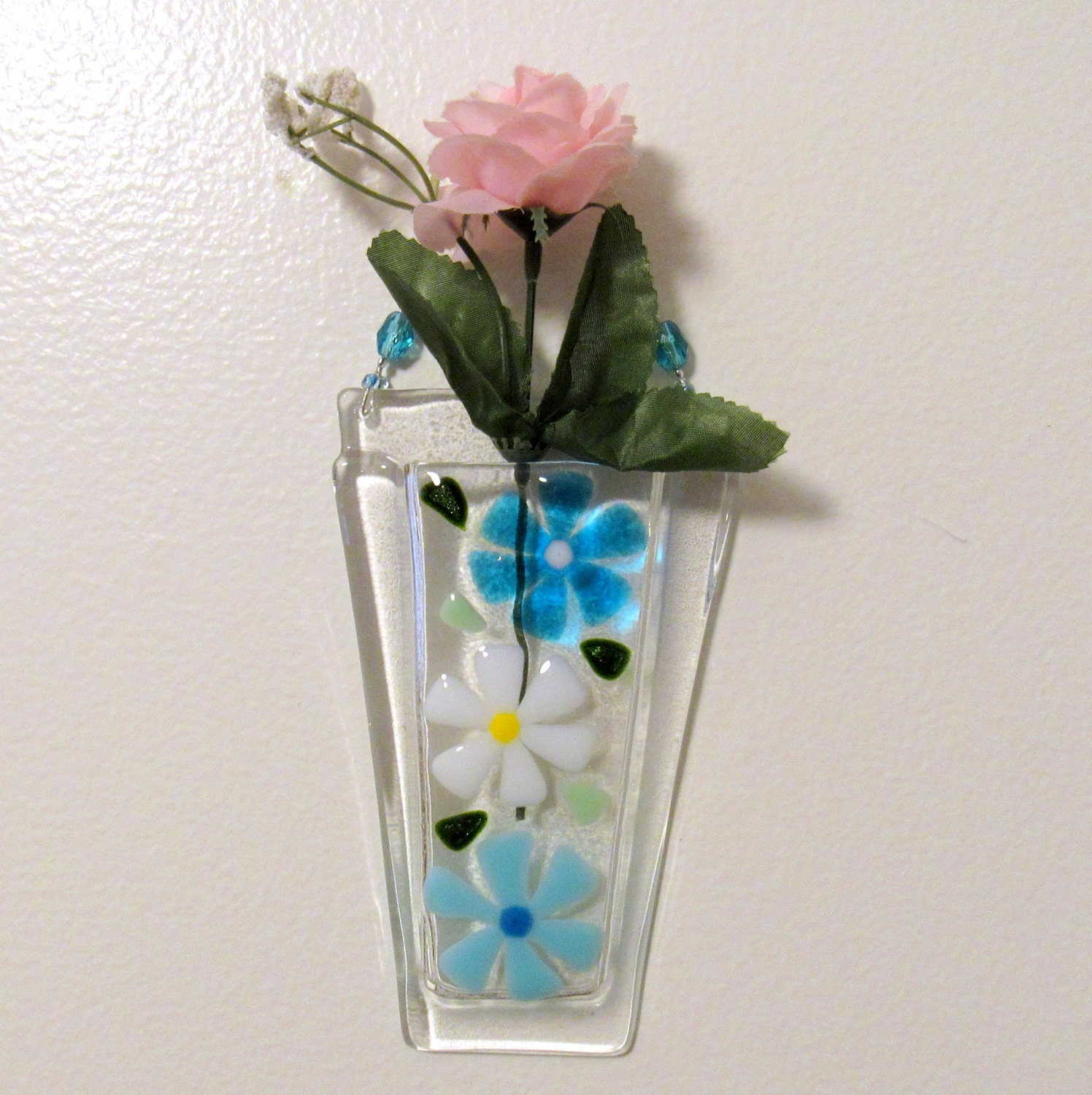 Fused glass wall vase glass flower vase glass wall hanging zoom reviewsmspy