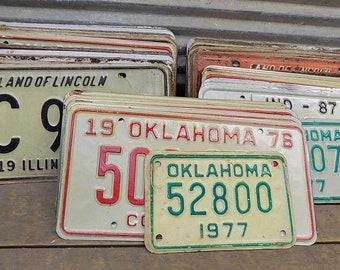 Set of 50 License Plates Lot Vintage Automobile Car Truck Tags ij,  Vintage License Plates, Vintage Car Tags, Truck Tags, License Plate Art