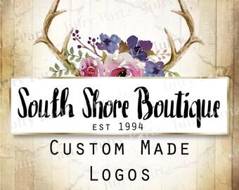 LOGO in South Shore•Premade Logo•Jewelry Card Logo•Flower Logo•Custom Logo•Shop Logo